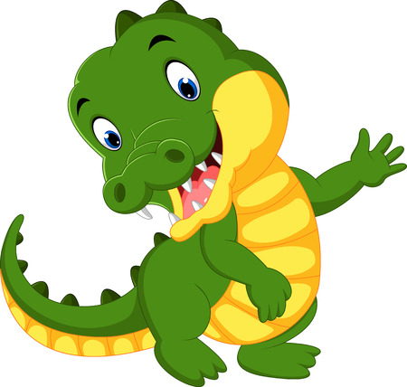 Cute crocodile cartoon Illustration