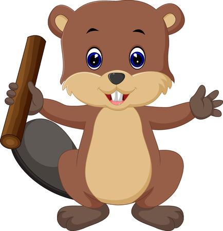 Beaver cartoon Illustration