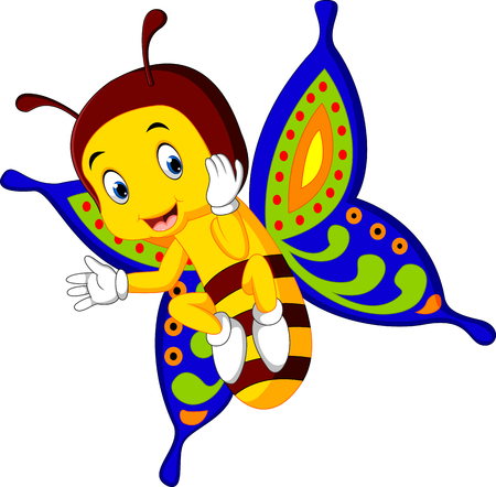 babyish: Cute butterfly cartoon