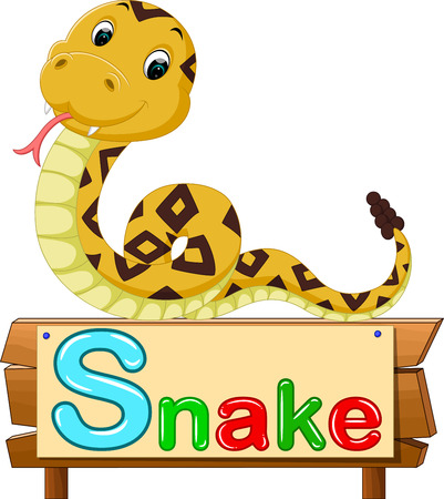 cute: cute snake Illustration