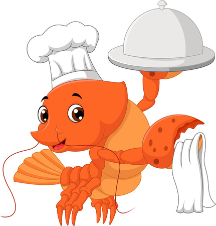 stocky: lobster cartoon