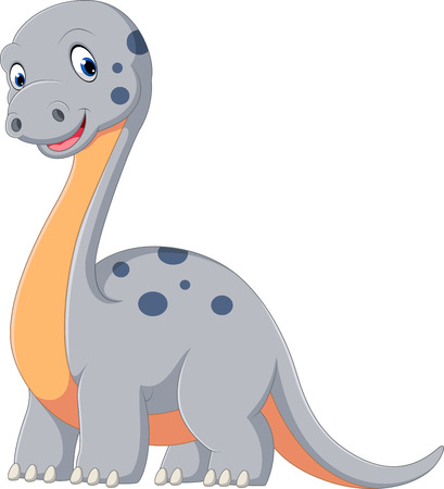 freaky: Cute dinosaur diplodocus cartoon