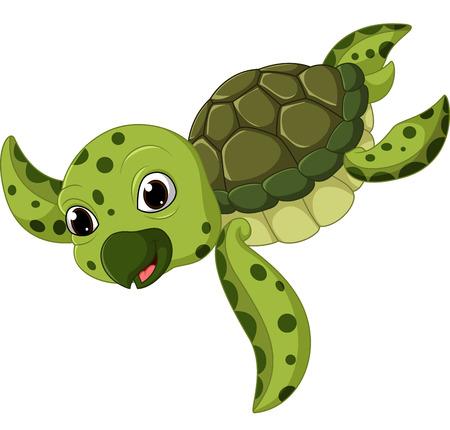 Cute sea turtle cartoon Stock Photo