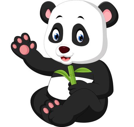 historieta de la panda del bebé Foto de archivo
