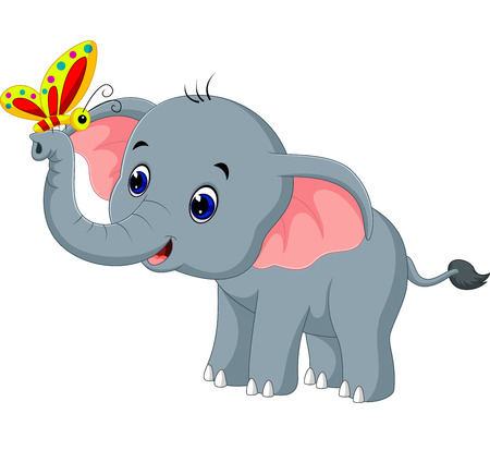 Cute elephant cartoon Stock Photo