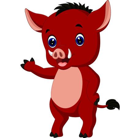 tusk: Cartoon warthog