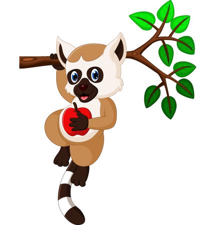 lemur: cute lemur cartoon