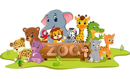 alphabet with cute wild animal