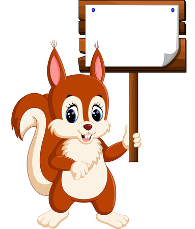 Cartoon funny squirrel