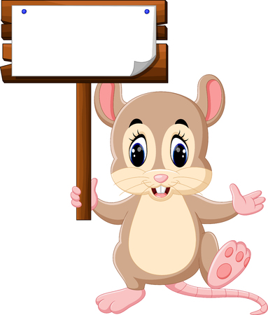 Cute mouse cartoon Stock Photo