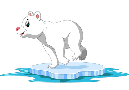 Polar bear cartoon Illustration