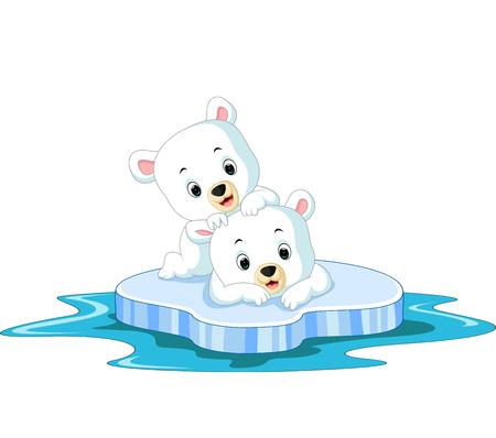 Polar bear cartoon Vettoriali