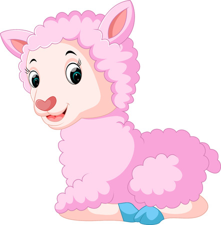 Cute sheep cartoon Illustration