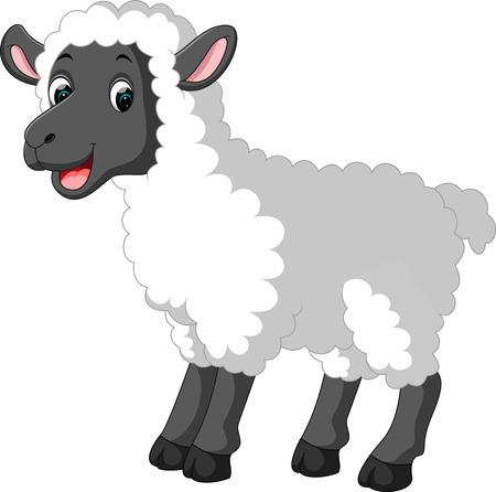 Cute sheep cartoon Stock Illustratie
