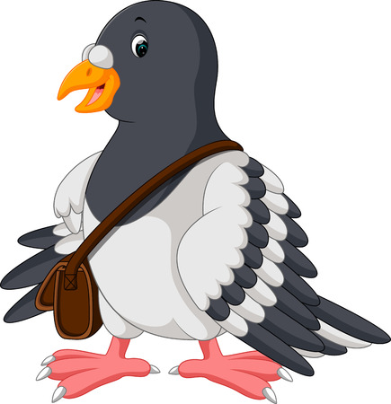 Cartoon funny pigeon bird