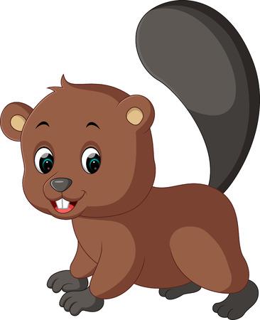 beaver tail: Cartoon beaver