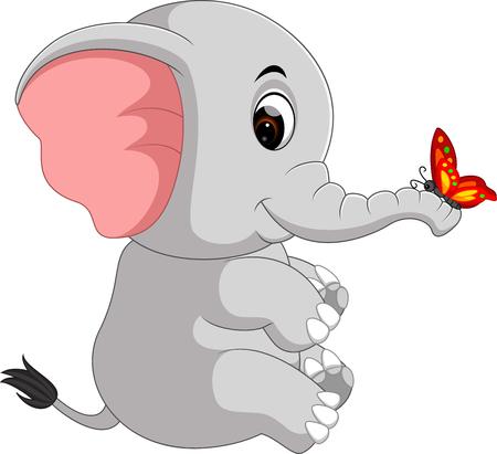 kind: cute elephant cartoon