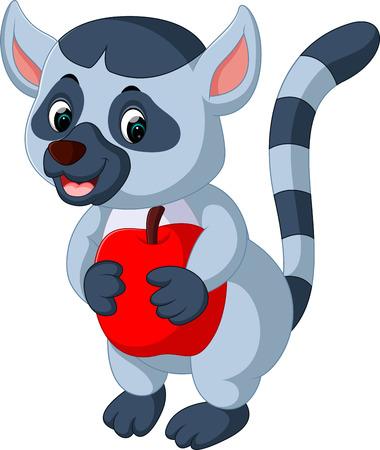lemur: illustration of cute lemur cartoon Illustration