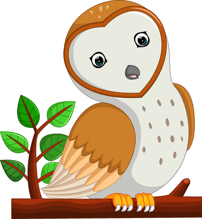 cute owl cartoon Illustration