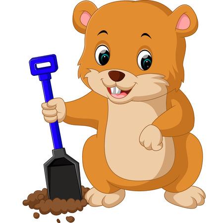 varmint: Cute groundhog cartoon