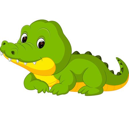 Cute crocodile cartoon Stock Illustratie