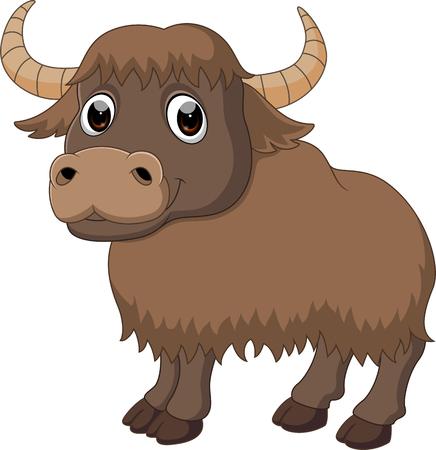 Bande dessinée mignonne de yak