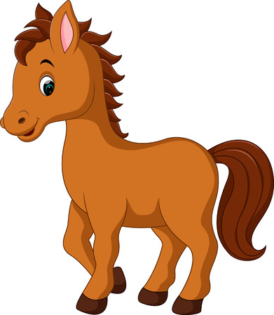 cute horse cartoon Illustration