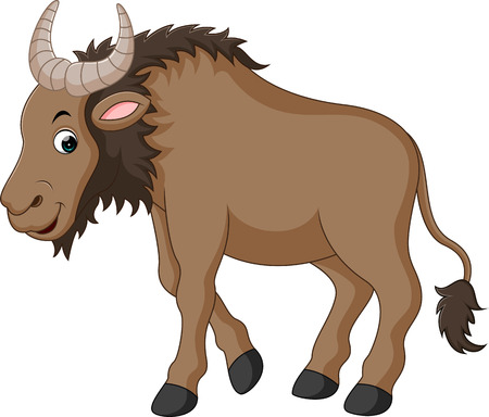 Illustration of a Wildebeest Illustration