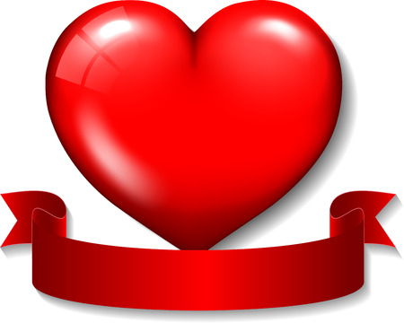 Happy Valentines day red heart