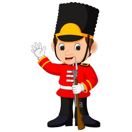 bearskin hat: British guardsman cartoon