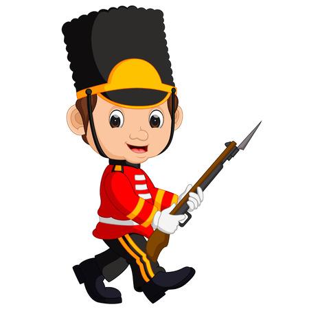 dessin animé guardsman britannique