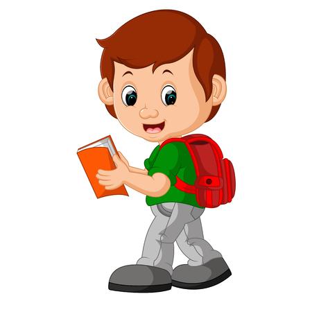 niños saliendo de la escuela: Niño con mochilas