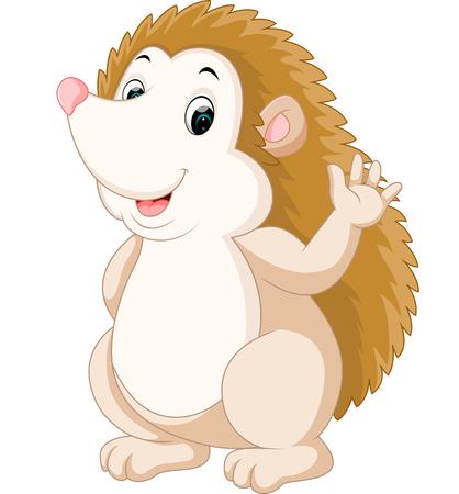 quills: Cute hedgehog cartoon Stock Photo