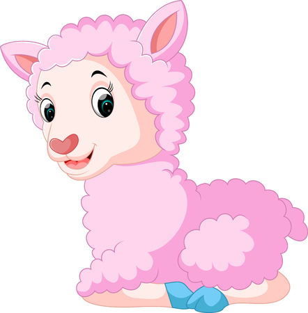 Cute sheep cartoon Stock Photo