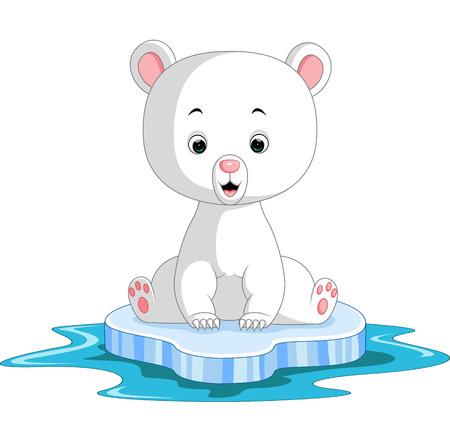 Polar bear cartoon Stock Photo