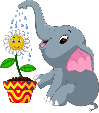 Schattige olifant cartoon Stockfoto - 74550126