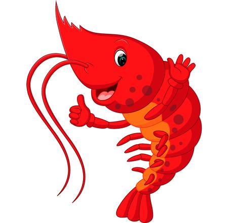 Cute lobster cartoon