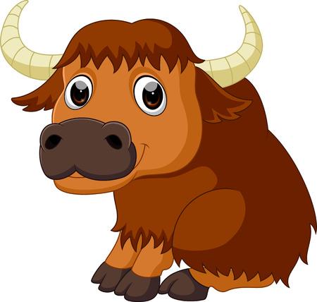 Cute bison cartoon Stock Photo