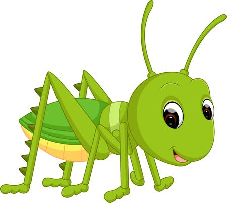Cartoon funny cricket Standard-Bild