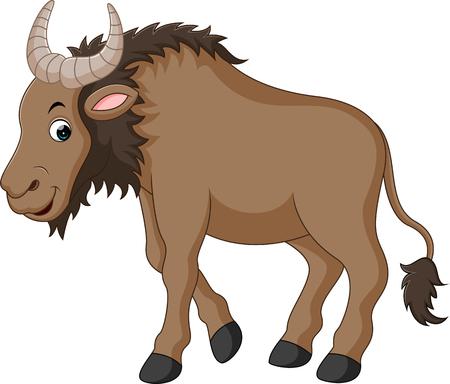 Illustration of a Wildebeest Stock Photo