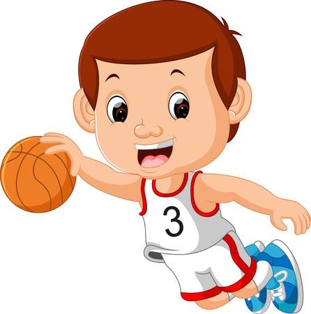 Boys Playing Basketball Sport