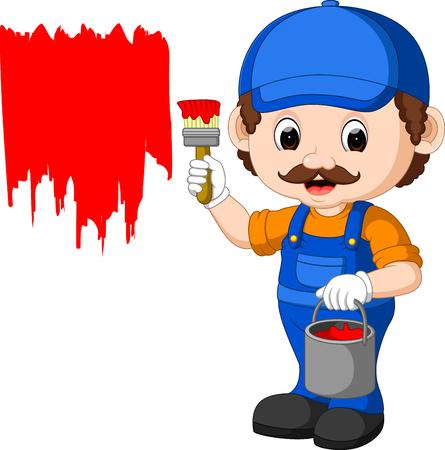 house painter: Professional painter cartoon