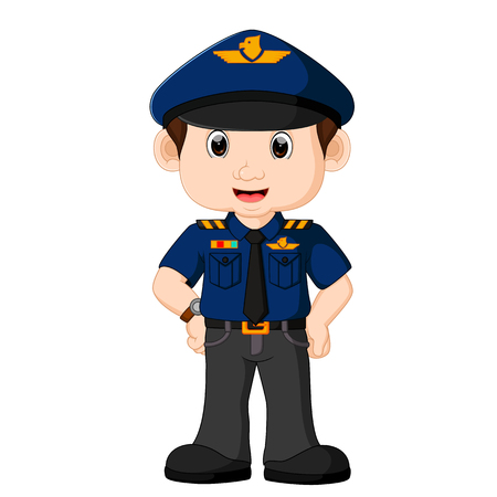 Young policeman cartoon