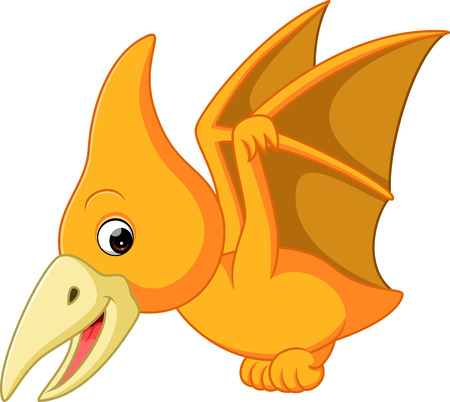 pterodactyl: Cute pterodactyl cartoon