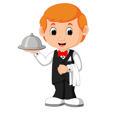 Waiter Restaurant Serving cartoon