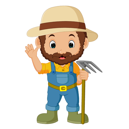 funny farmer cartoon Ilustrace