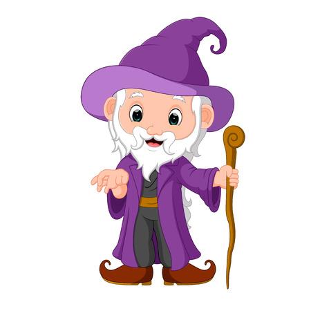 funny witch cartoon Illustration