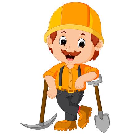 Lustige Bergleute Cartoon