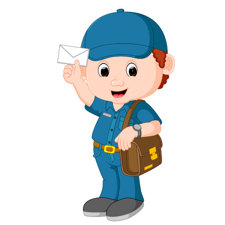 postman cartoon Banco de Imagens