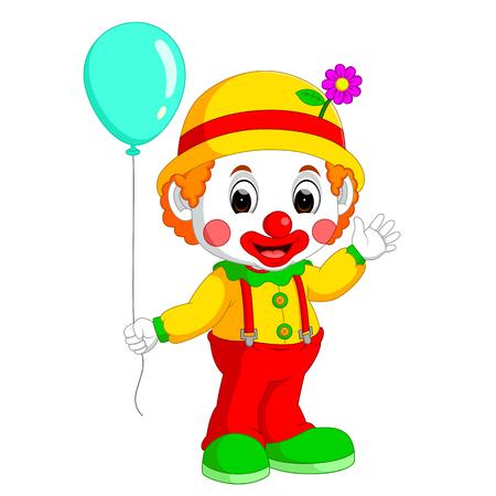 stage makeup: cute clown cartoon